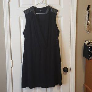 Alfani Woman Black Dress Faux Leather Size 18